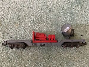 American Flyer #946 Erie Floodlight flatcar painted red generator lights knuckle