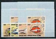 Kongo 855/58 ungezähnt postfrisch + Sonderblöcke / Eisenbahn ..............1/288