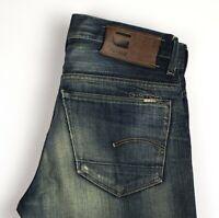 G-STAR RAW Herren 3301 Gerades Bein Jeans Größe W29 L34 ARZ455