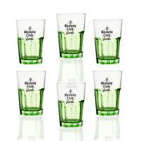 6 Stück originale Havana® Club Longdrink Gläser Verde 0,34l - Transperent Grün