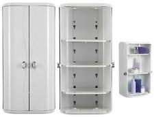 Croydex Rotating Double Door Adjustable Shelve ABS Bathroom Storage Wall Cabinet