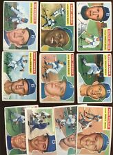 1956 Topps Baseball Card Lot All NLC Brooklyn Dodgers 10 Different G/EX