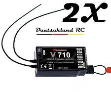 2x 7ch. RICEVITORE NUOVO V710 MEGLIO COME F701 PER DSMX DSM2 Spektrum CORRENTE