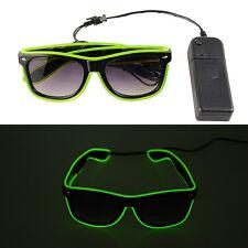 5 Paar El Wire LED Brille Glow Kühle Shutter leuchten Party Leuchtbrille