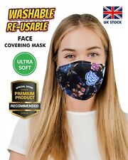 Girls Floral Breathable CottonBlend Face Mask Mouth Protection Washable Reusable