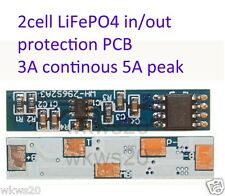 2 cell  3A LiFePo4 Lithium ion phospate Battery Input Ouput Protection PCBA123