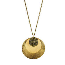 Avon Omata Necklace Burnished brass necklace with floral detail discs