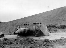 B&W WW2 Photo WWII German Gun Turret Omaha Beach  World War Two Normandy D-Day