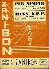 Poletto - Pavesio - Casadei # PER SEMPRE - MISS K.P.P. # Zanibon 1949