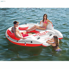 Inflatable Floating Island Water Party Lounge River Lake Raft Built In Cooler