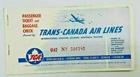 Trans Canada Air Lines Passenger Ticket Stub Toronto to New York 1952