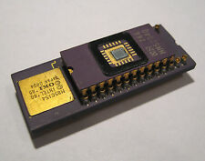 Piggyback Square Window Integrated Circuit CPU Chip Intel gold scrap vintage