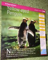 Endangered Species Animal Card - Birds - Yellow-eyed Penguin #19