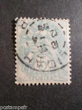 FRANCE, 1900, timbre CLASSIQUE 111, BLANC papier GC, oblitéré, VF CLASSIC STAMP