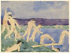 Charles Demuth Reproduction: Twelve Nudes on the Beach - Fine Art Print