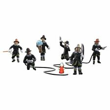 Painted Rescue Firefighters (OO/HO figures) Woodland Scenics A1961 free post F2