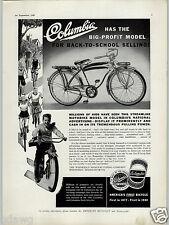 1940 PAPER AD Columbia Bicycle Streamline Motobike Tank Instument Panel