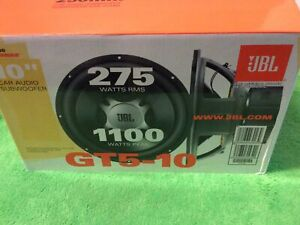 "JBL GT5-10D 10"" Dual Voil Coil 4-Ohms CAR AUDIO 275 Watts Sub Woofers ONE"