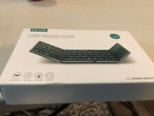 Bluetooth Keyboard with Touchpad, Jelly Comb Foldable Tri-fold Triple Wireless