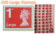 100 1st Class Large Letter Security Stamps Unfranked OFF PAPER