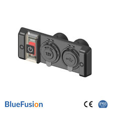 Switch Panel With 12v Outlet and Dual USB Sockets Ip65 Rated - Bluefusion