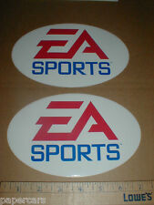 EA Sports New Nascar gaming PAIR racing decal Sticker Electronic Arts rare oval