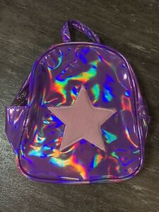 Limited Too Mini Backpack Holographic Star NEW WITH TAGS