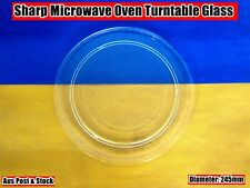 Sharp Microwave Oven Spare parts Glass Turntable Plate 245mm (W14) Brand New