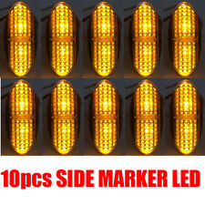 10X CLEARANCE LIGHTS 4 LED SIDE MARKER LED TRAILER TRUCK AMBER Yellow 12V 24V