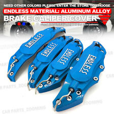 Metal 3D ENDLESS Universal Style Brake Caliper Cover front rear 4x Blue L+M WL04
