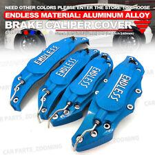 "Metal 3D ENDLESS Universal Style Brake Caliper Cover front rear 4x Blue 10.5"" W4"