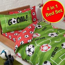 Football Red 4 in 1 Junior Bedding Bundle Set (Duvet, Pillow and Covers) Kids