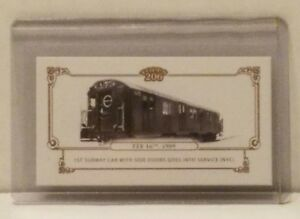 2010 Topps 206 Historical Events Feb 16th 1909/1st subway car side doors #HE2
