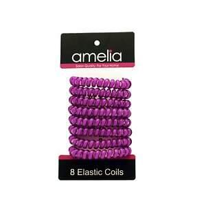 8 Hair Coils, 1.5in, Medium Size, Magenta