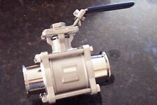 "STAINLESS STEEL SANITARY BALL VALVE  TRI-CLAMP 2"" -T316  BV2316"