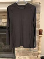 Russell Athletics Dri Power Mens Shirt Top size Large Black Long Sleeve