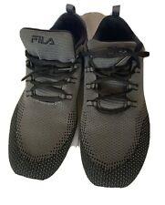 Men's FILA Grey/Black Trainers Size UK 8