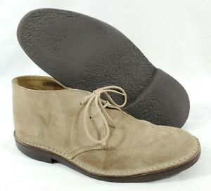 Brooks Brothers Peal Co Mens Beige Suede Desert Chukka Boots England Size 8.5 D