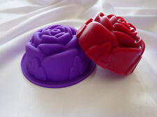 "Chocolate, Candle melts, -SOAP- making mould large ""Rose' pattern x 2."