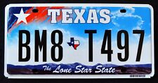 """TEXAS """" LONE STAR STATE - MAP CT4 G220 """" DISCONTINUED """" TX Graphic License Plate"""