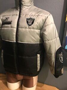 OAKLAND RAIDERS New NFL Reebok Kids Heavyweight Jacket LG Save$$$