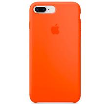 iPhone 8 / 7 PLUS Apple Original Echt Silikon Schutz Hülle - Orange