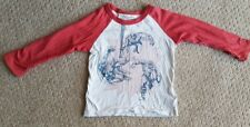 Baby Gap 12-18 months white and red long sleeve superhero tshirt