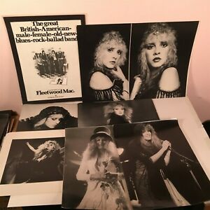 FLEETWOOD MAC / STEVIE NICKS Lot of 23 Vintage Large Photos & Posters, Artwork