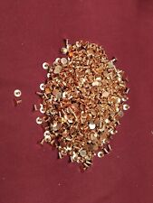 """Leather Hardware - LOT Of 1,000 Copper Plated Tubular Rivets - 6/16"""" (3/8"""")"""