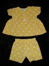 Sunny Yellow Polka Dot Short Set by Little Lass size 18 mo