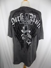 Dark Ruin Black & Gray s/s Shirt Men's Sz XXL 2XL Eagle Wings Cross