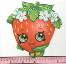 SHOPKINS berrylicious STRAWBERRY KISS fabric iron-on applique NO SEW grocery pal