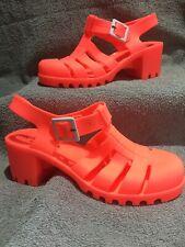 Matalan Heeled Jelly Shoes Size 4