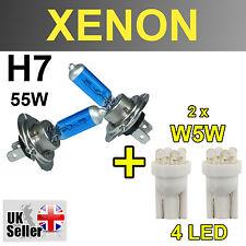 H7 55W XENON SUPER WHITE LIGHT BULBS W5W 4 LED HEADLIGHT VAUXHALL ASTRA H GTC